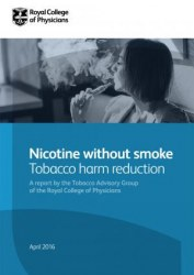 "Couverture du rapport ""Nicotine without smoke"""